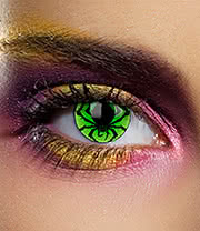 Edit 1 Year Spider Coloured Contact Lenses (Black/Green)