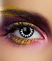 EDIT 1 Year Cog Coloured Contact Lenses (Black/White)