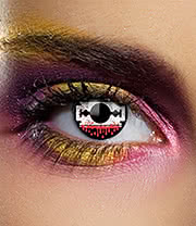 Edit 1 Year Blood Razor Coloured Contact Lenses (White/Red)