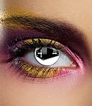 EDIT 1 Year Coffin Coloured Contact Lenses (Black/White)