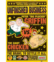 Family Guy Chicken Fight Poster