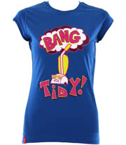 Flip Flop And Fangs Bang Tidy Skinny Fit T Shirt (Blue)