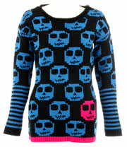 Flip Flop And Fangs Zombie Jumper (Black/Blue)