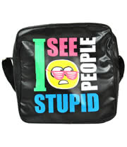 Flip Flops And Fangs Stupid People Bag (Black)