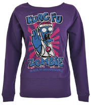Flip Flop And Fangs Kung Fu Zombie Jumper (Purple)