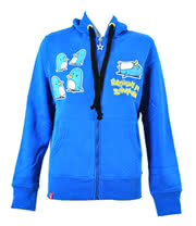 Flip Flop And Fangs Shuffling Skinny Fit Hoodie (Blue)