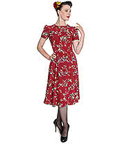 Hell Bunny Birdy Dress (Red)
