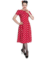 Hell Bunny Madden Dress (Red)