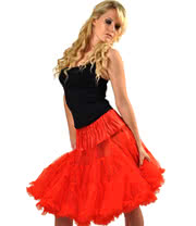 Hell Bunny Long Petticoat (Red)