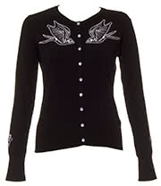 Hell Bunny Skelebird Cardigan (Black)