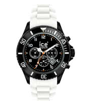 Ice Watch Black And White Chrono Watch (Large)