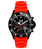 Ice Watch Red & Black Chrono Watch (Large)