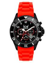 Ice Watch Red And Black Chrono Watch (Large)