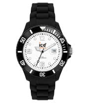 Ice Watch Silicone Black And White Watch (Large)