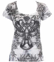 Innocent Litho Lace Top (Black/White)