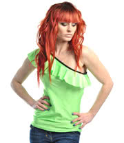 Insanity Frilly Green Top