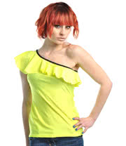 Insanity Frilly Yellow Top