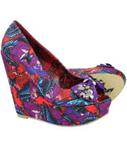Iron Fist Havana Breeze Wedge Shoes (Multi-Coloured)