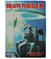 Iron Maiden 2 Minutes To Midnight Flag