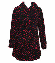 Jawbreaker Polka Dot Coat (Black/Red)