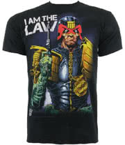 Judge Dredd Law T Shirt (Black)