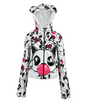 Killer Panda By Poizen Industries Bubble Hoodie (White)