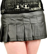 Lip Service Itty Bitty Micro Mini Matte Skirt (Black)