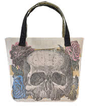 Loungefly Skull And Roses Tote Bag