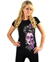 Lucky 13 Marie Girlfriend T Shirt (Black)