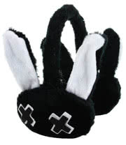 Luv Bunny By Poizen Industries Minxy Earmuffs (Black/White)