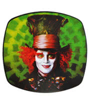 Alice In Wonderland The Mad Hatter Square Belt Buckle (Green)