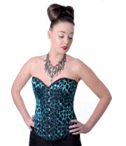 Midnight Peep Show Corset (Black/Green)