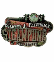 Nemesis Now Colonel Fizziwig Steampunk Logo Ornament (Brass)
