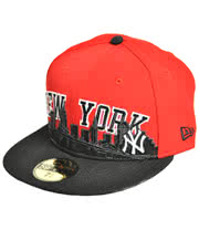 New Era Cityline Cap (Black/Red)