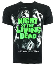 Night Of The Living Dead T Shirt (Black)