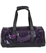 Pineapple Leopard Gym Bag (Purple)