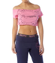 Pineapple Slogan Crop Top (Pink)
