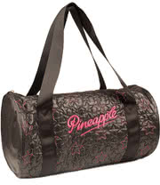 Pineapple Starstruck Barrel Gym Bag (Black)
