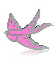 Blue Banana Swallow Belt Buckle (Pink)