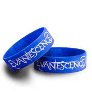 Rokk Bands Evanescence Logo Wristband (Blue)