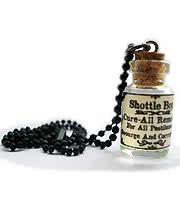 Shottle Bop Cure All Bottle Necklace (Clear)