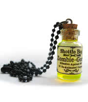 Shottle Bop Zombie Gone Bottle Necklace (UV Yellow/Green)