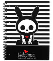 Skelanimals Jack Rabbit College Book (Black/White)