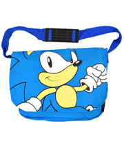 Sonic The Hedgehog Face Messenger Bag (Blue)