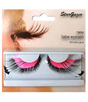 Stargazer No.53 Feathered False Eye Lashes (Pink)