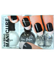 Stargazer Gothic Manicure Set (Black/White/Clear)