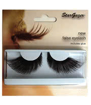 Stargazer Long False Eye Lashes (Black)