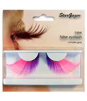 Stargazer No55 False Eyelashes (Pink/Purple)