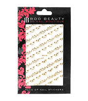 Nail Art Sheets XB-46 Filigree Strips (Gold)