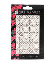 Nail Art Sheets XB-150 Lace Pattern (Silver)